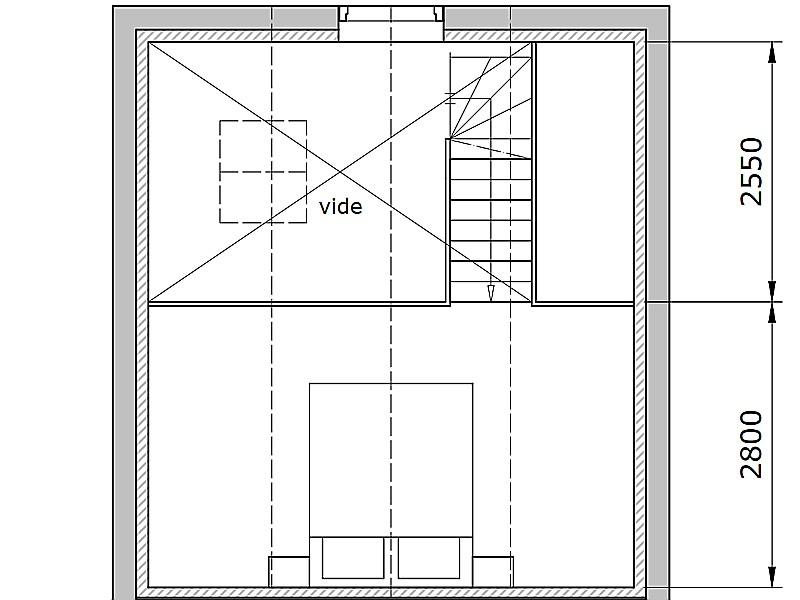Plattegrond slaapkamer studio Kerkuil B&B Saenliefde in Wormer